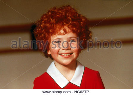 ANNIE (1982) - pictured:  Aileen Quinn - Stock Photo