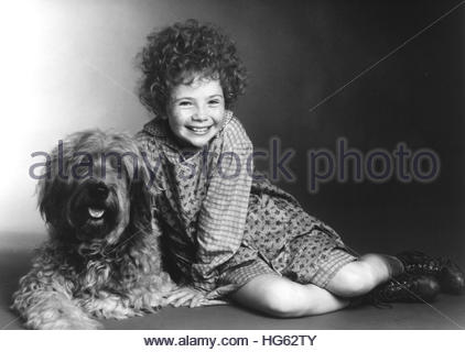 ANNIE (1982) - pictured:  Aileen Quinn. Editorial use only. - Stock Photo
