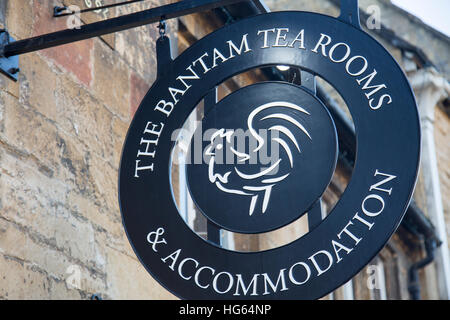 Bantam tea rooms and hotel in the historic village market town of Chipping Campden in the Cotswolds, England,UK - Stock Photo