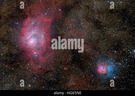 trifid and lagoon nebula - photo #47