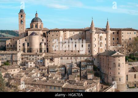 Urbino Marche Italy. Classic view - Stock Photo