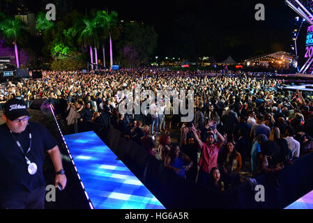 Miami, FL, USA. 31st Dec, 2017. Atmosphere during Pitbull's New Year's Revolution at Bayfront Park on December 31, - Stock Photo