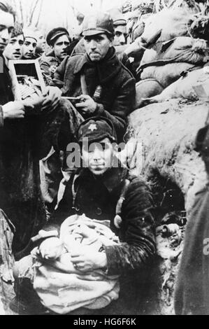 The Nazi propaganda picture shows troops of the Popular Front (Frente Popular) during the Spanish Civil War in Spain, - Stock Photo