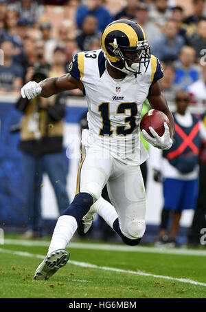 Los Angeles, California, USA. 11th Dec, 2016. Michael Thomas of the Los Angeles Rams in action during a 42-14 loss - Stock Photo