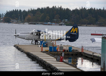 Harbour Air single engined DHC-3 Turbine  Otter aircraft at Nanaimo, Vancouver Island. BC. Canada.  SCO 11,332. - Stock Photo