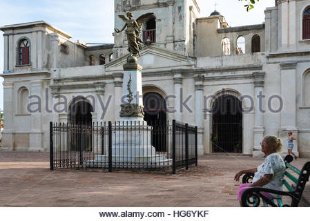 Saint Joseph or San Jose Catholic church or temple. The weathered old colonial building architecture is a tourist - Stock Photo