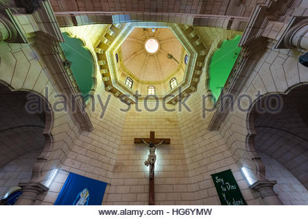 Saint Joseph or San Jose Catholic church interior details. Altar and cupola detail. Beautiful colonial architecture - Stock Photo