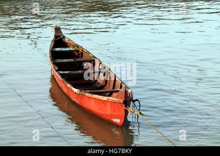 Lonely boat, - Stock Photo