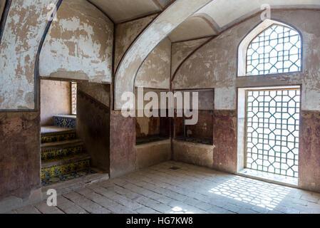 Staircase of Ali Qapu palace in Isfahan city, Iran - Stock Photo