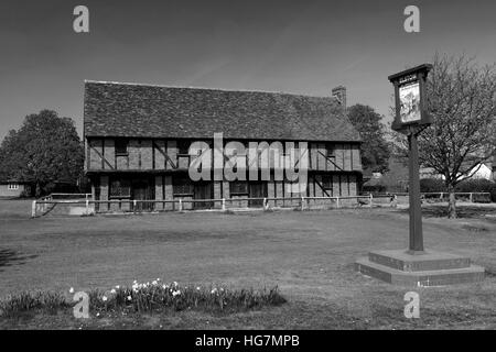 Spring, The Moot Hall, Elstow village, Bedfordshire, England, UK - Stock Photo
