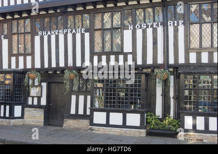 Shakespeare Hostelrie ( now the Mercure Shakespeare Hotel ), Chapel St, Stratford Upon Avon, Warwickshire, England, - Stock Photo