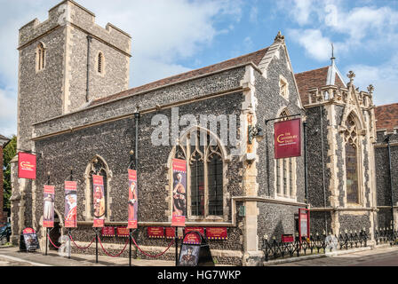 The Canterbury Tales Museum a reconstruction of 14th century life in England and visitor attraction in Canterbury, - Stock Photo