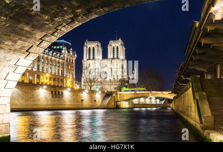 The Notre Dame is historic Catholic cathedral, one of the most visited monuments in Paris, considered as one of - Stock Photo