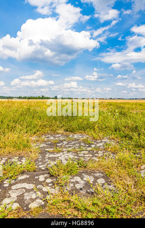 Berlin Tempelhof, former airport in Berlin city, Germany. Since 2008 used as a recreational space known as Tempelhofer - Stock Photo
