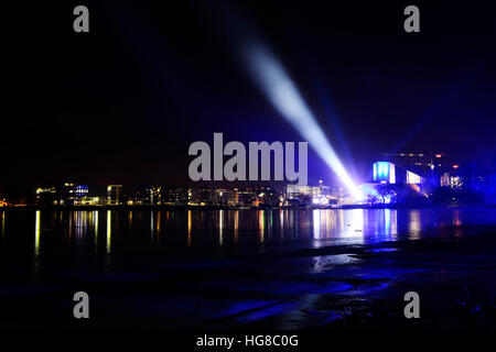 view of the New Year's Eve in Helsinki, December 31, 2016 - Stock Photo