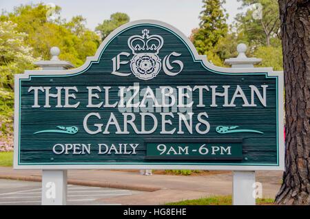 Elizabethan Gardens Manteo NC - Stock Photo