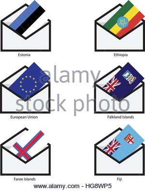Mails Flags, Opening mail flag - Stock Photo