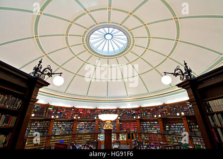 Picton Reading Room inside Liverpool Central Library. LIVERPOOL UK - Stock Photo