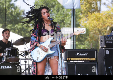 Mayaeni performs at the 2015 Budweiser Made In America Festival - Stock Photo
