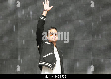 G-Eazy performs at the 2015 Budweiser Made In America Festival - Stock Photo