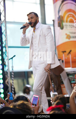 Jidenna performs on The Today Show on August 14th, 2015 in New York City, NY. - Stock Photo