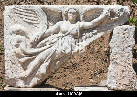 Relief Of Nike Winged Goddess Of Victory Roman Ruins Of