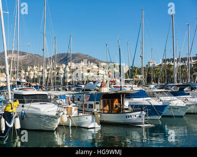 Benalmadena Costa, Costa del Sol, Malaga Province, Andalusia, southern Spain. Puerto deportivo.  Sports port.  Puerto - Stock Photo