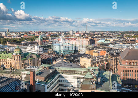 City view of Helsinki in Finland - Stock Photo