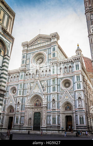 Nice front view of Florence Cathedral - Stock Photo