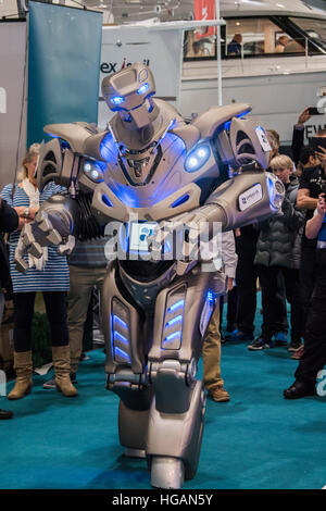 London, UK. 7th January, 2017. Titan the robot visitors at the Landau UK stand - The London Boat Show opens at the - Stock Photo