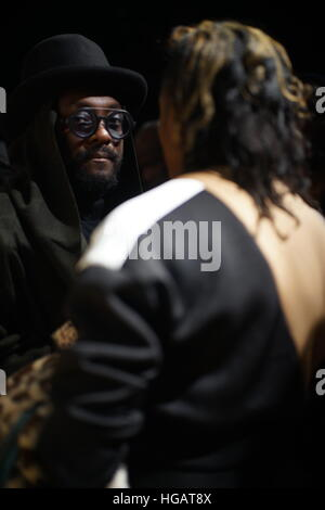 London, UK. 7th January, 2017. London Fashion Week,      Credit: Simon King/Alamy Live News - Stock Photo