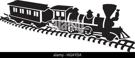 Model railway won rails - Stock Photo