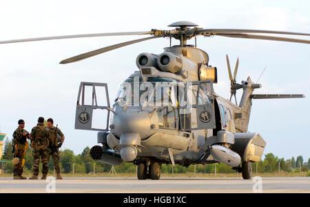 Royal Saudi Air Force AS532 Cougar CSAR helicopter. - Stock Photo