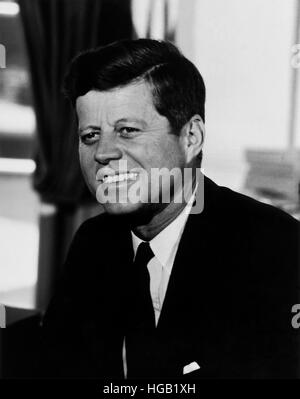 President John F. Kennedy in a portrait taken at the White House - Stock Photo