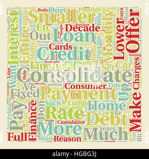 Why Do You Have To Consolidate text background wordcloud concept - Stock Photo