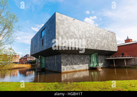 Eindhoven, Netherlands - April 12, 2016: new extension of the Van Abbemuseum. Its a museum of modern and contemporary - Stock Photo
