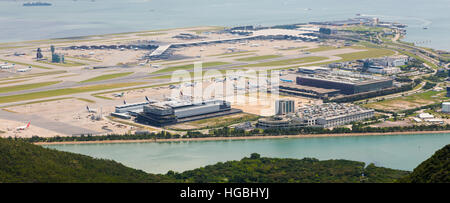 Hong Kong International Airport - Chek Lap Kok - off Lantau Island - Stock Photo