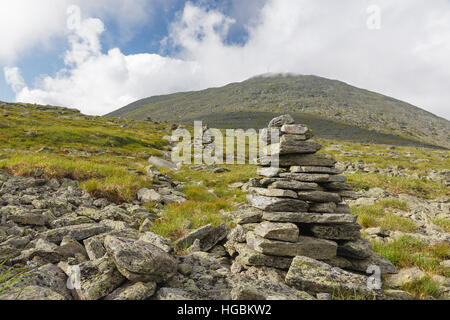 Mount Washington from Davis Path in the White Mountain National Forest in Sargent's Purchase, New Hampshire during - Stock Photo