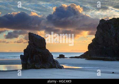 Garry Beach at Tolsta on the Isle of Lewis - Stock Photo