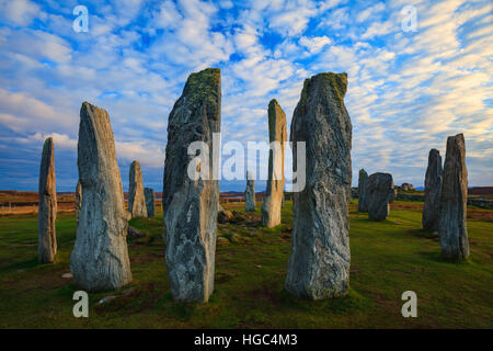 Callanish (Calanais) Stone Circles on the Isle of Lewis in the Outer Hebrides. - Stock Photo