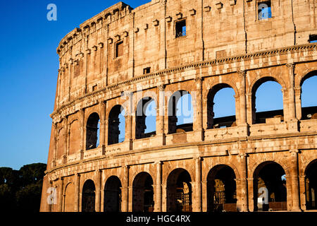 The Colosseum of Rome in the morning light during the summer in Rome, Italy. - Stock Photo