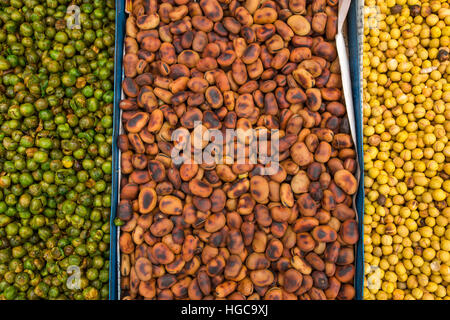 Beans on the Market. Top view - Stock Photo