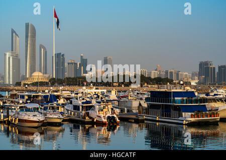 City skyline, Abu Dhabi, United Arab Emirates - Stock Photo
