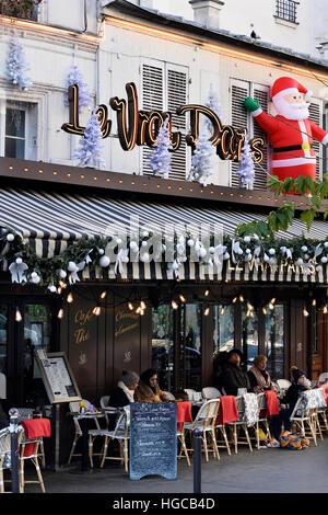 Café Le Vrai Paris, Montmartre, Paris, France - Stock Photo