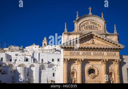 beautiful town of ostuni in puglia,italy - Stock Photo