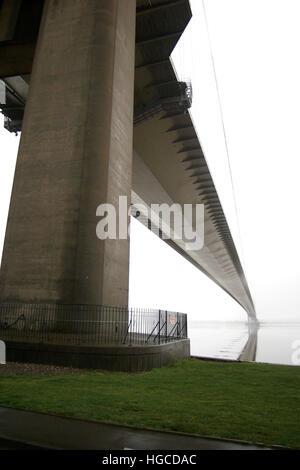 North tower, Humber bridge, Hessle, east Yorkshire - Stock Photo