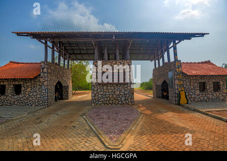 Entrance gate of Yala national park, Sri Lanka - Stock Photo