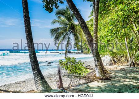 Empty beach and coast line, Costa rica, Central America 2015 - Stock Photo