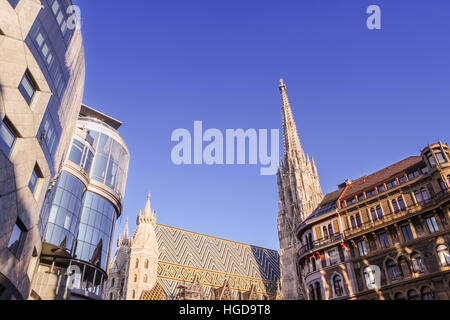 City Landscape With Medieval Gothic And Modern Buildings In Vienna Austria Combining Old
