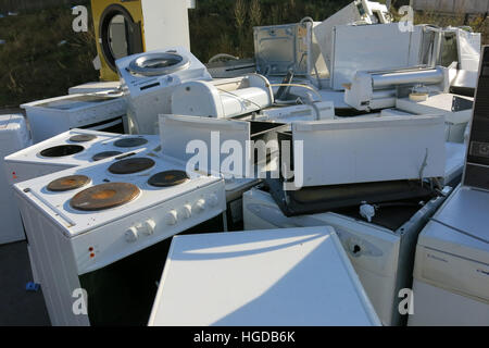 Recycling ELECTRONIC SCRAP in place - Stock Photo